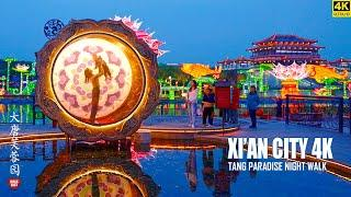 Night Walk In Xi'an Tang Paradise   A Dreamland Of Chinese Tang Dynasty   4K HDR   西安   大唐芙蓉园