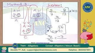 Alligations  ( Session-5) | Concepts and Applications | Shortcuts  | Anil Nair Classes
