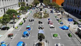 Homeless tent camps finally allowed on the streets of San Francisco due to the coronavirus pandemic