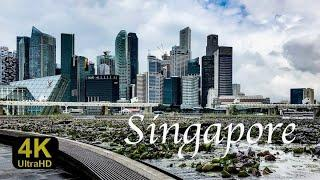 Wonderful places to relax in Singapore Infinity Pool Marina Bay Sands Skyline Clarke Que Singapur 4K