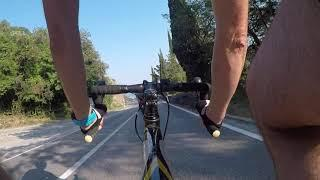 Road bicycle vs 50cc scooter Labin - Rabac downhill race (guess who is faster)