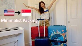 Moving from USA to Singapore With 2 Suitcases   Minimalist Travel Packing Tips