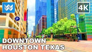 【4K】 Driving in Downtown Houston, Texas USA - Virtual Drive Tour - 2020 Travel Guide