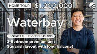 Waterbay Executive Condo : 3-Bedroom with Long Balcony Home Tour in District 19 ($1.2M, Newly MOP)
