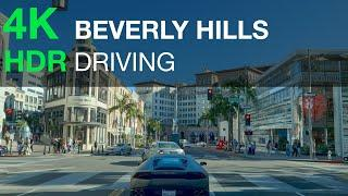 Driving in Beverly Hills California - 4K HDR USA
