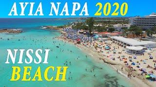 Ayia Napa Nissi 2020 All Beaches   Drone Review   Cyprus Lockdown Lifted