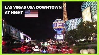 DRIVING DOWNTOWN LAS VEGAS USA.HD FROM THE FAMOUS LAS VEGAS SIGN SOUTH TO THE NORTH LAS VEGAS STRIP